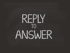reply to answer