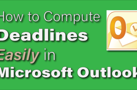 calculate court deadlines in outlook