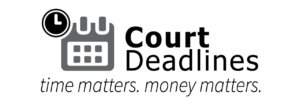 Court Deadlines Time Matters Logo