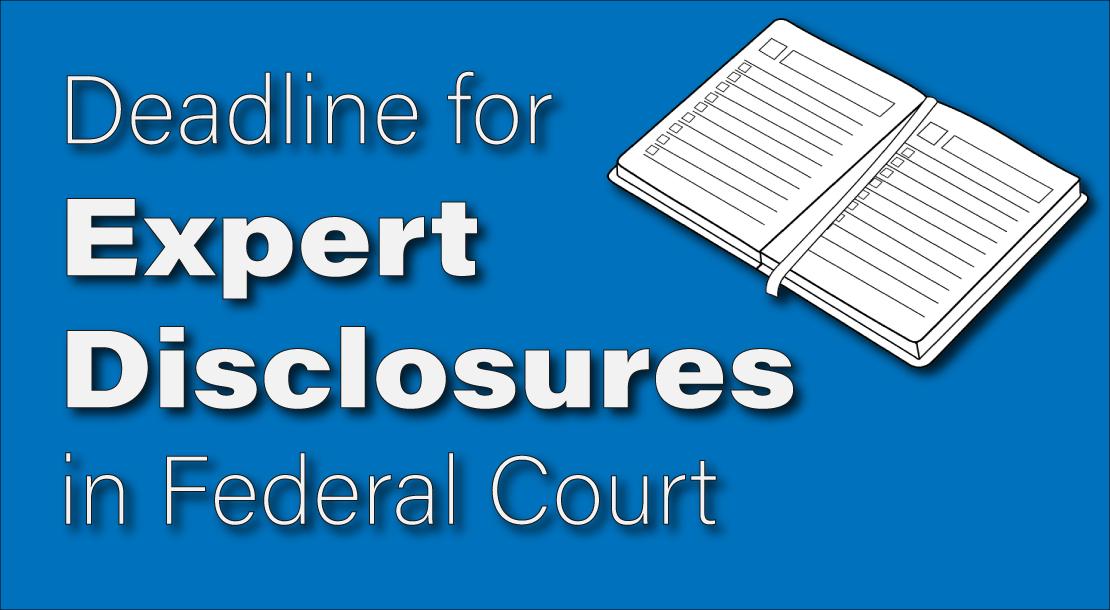Expert Disclosure Deadline